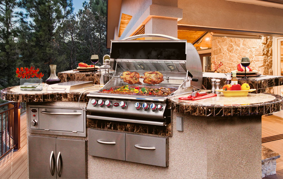 Outdoor Bbq Kitchens Islands Grills Carts Fireplaces Fire Pits Smokers And Accessories At Calflamebbq