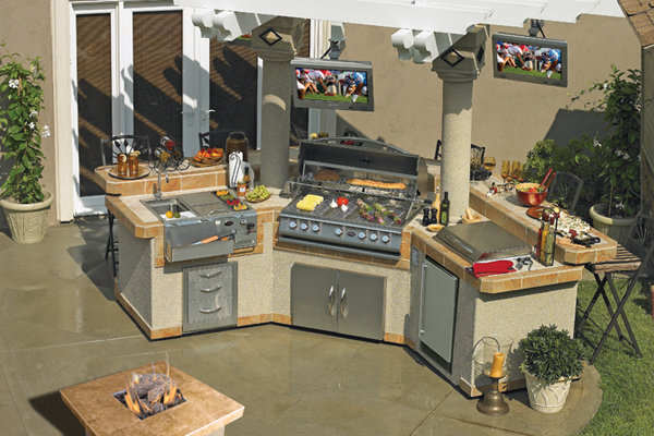 Outdoor Bbq Pavilion And Lbk Islands At Calflamebbq Com
