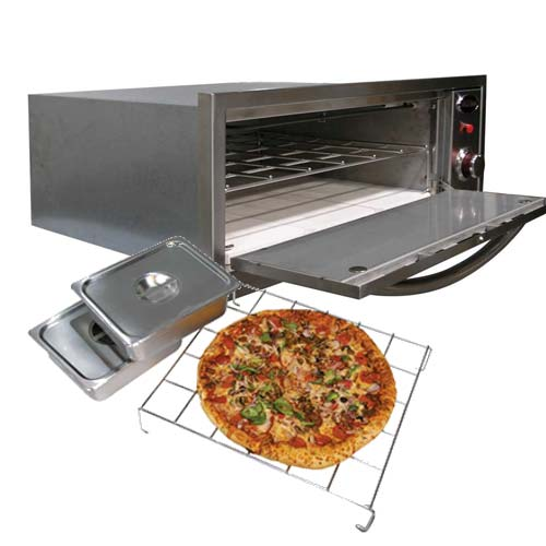 Warming pizza in oven