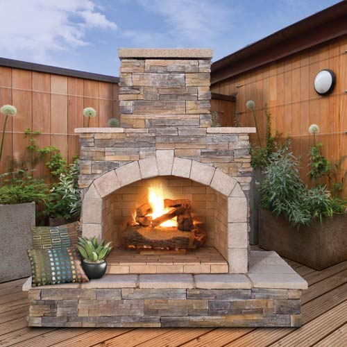 Incroyable Fireplaces. Cal Flame Outdoor ...