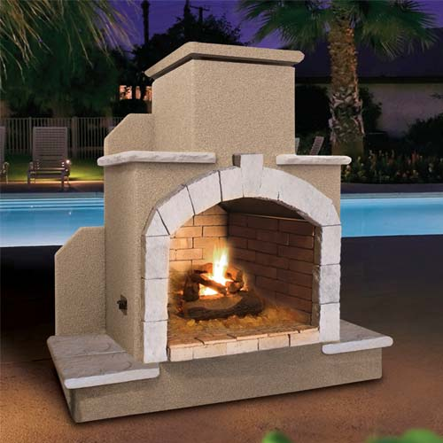 Cal Flame Outdoor Fireplace Galvanized Steel Frame Frp915 At